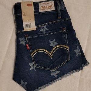 NWT Levi's Star Denim Cut Off Shorts Size 0